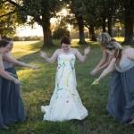 vestido  de novia pintado